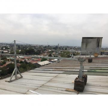 Construction building window glass cleaning suspended platform in India