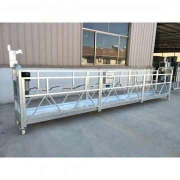 Aluminum 2 meters temporary gondola with wire winder in Indonesia