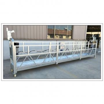 Aluminum temporary hanging scaffolding for building facade maintenance