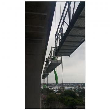 Aluminum rope access suspended platform for building cleaning