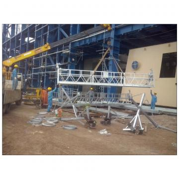Steel temporary access hoist motor suspended platform ZLP800 for building cleaning