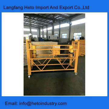 Building cleaning painting steel ZLP630 temporary suspended platform in China