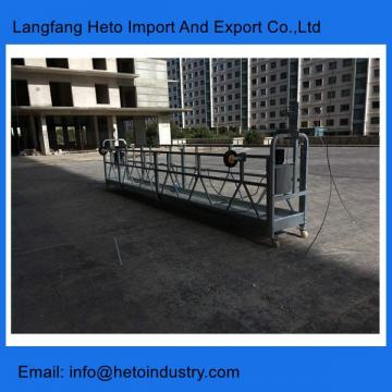 Building cleaning galvanized steel ZLP630 temporary suspended platform in China