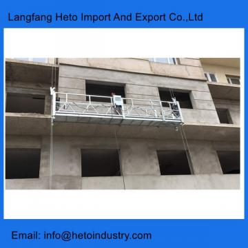 Building maintenance aluminium ZLP630 temporary suspended platform in China