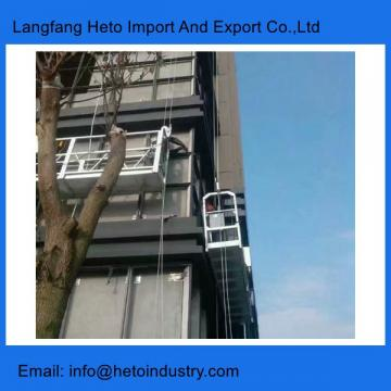 Building maintenance scaffolding power coating steel temporary suspended platform gondola