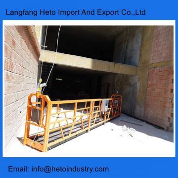 Building maintenance cradle power coating steel temporary suspended platform gondola