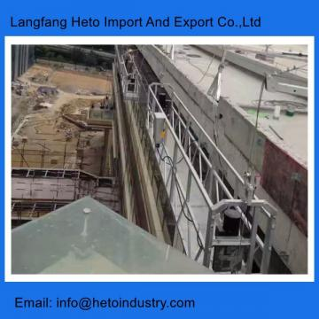 Construction building maintenance cradle Indonesia 3m aluminium temporary gondola platform