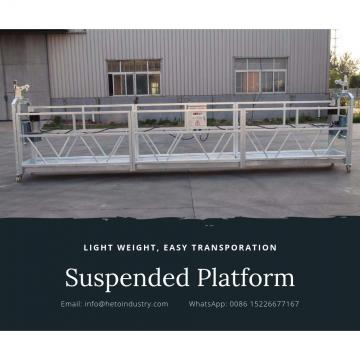 CE certificated aluminium temporary suspended platform ZLP630 in China