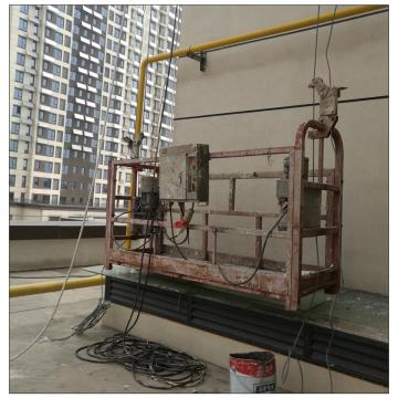 Glass installation Philippines ZLP630 hoist suspended platform