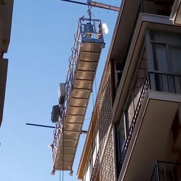 Electric temporary access suspended platform ZLP800 for building cleaning