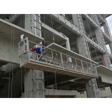 Aluminum temporary suspended platform ZLP630 with 1.5kw hoist motor